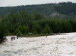 La Klutina River et ses fidèles pêcheurs.