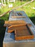 Une partie des parties bois restaurées et fait main.