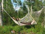 Petite sieste bien méritée dans le hamac, enfin sans être attaquée par les moustiques.