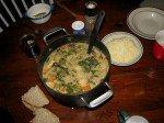 Cream soup de Matt avec les bons légumes du jardin. A tomber!