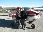 Karin et Rod, au décollage.