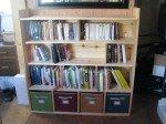 L'étagères à livres finie.