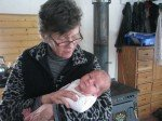 Avec Grand Ma Karin.