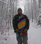 Matin du 25, promenade en forêt. TImothy, bien à l'abri. Il fait -22°C.