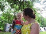 Rebbekah (2° soeur de Matt) et Maggie (14 mois).