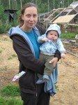 Mon amie Lisa et son petit Silas, 3 mois. Futur copain de Timothy et proche voisin.