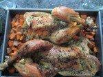 Poulets rôtis, patates douces... du bonheur!
