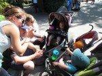 Au Zoo de San Diego avec mes amis d'Alaska, Taj et Lea.