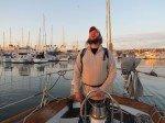 Premier depart, Matt sort de la marina de San Diego.