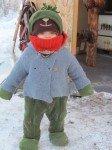 Le petit bonhomme vert est prêt pour l'aventure.