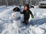Un p'tit bonhomme de neige pour Tim!