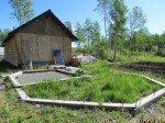 Les fondations de l'extention de la maison, gros projet de l'été.