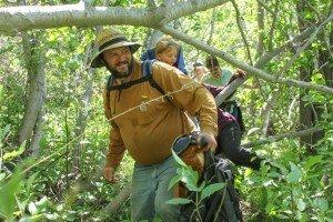 0033 Walking through trees